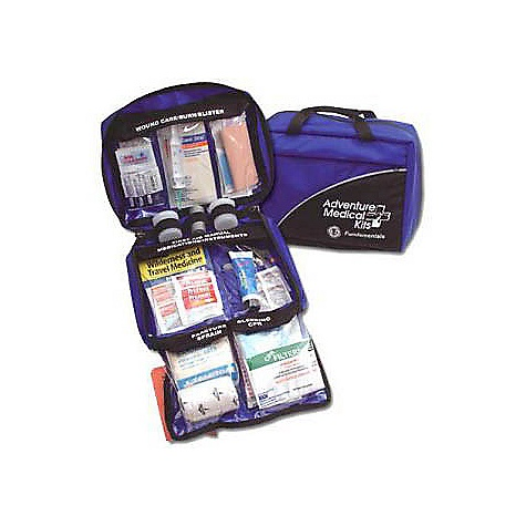 "Entertainment Free Shipping. Adventure Medical Kits Fundamentals Kit The Fundamentals Kit by Adventure Medical Kits has everything that a back country guide, outfitter, or trip leader would want in a medical kit. S Features: Group Size: 1 - 8 people Trip Duration: 1- 14 days Weight: 2 lbs 5 oz Size: 9"" x 8"" x 5.5"" 1 - Instructions, Easy Care, Bleeding 1 - CPR Face Shield, Laerdal 1 - Trauma Pad, 5"" x 9"" 1 - Trauma Pad, 8"" x 10"" 1 - Gloves, Nitrile (Pair) with Bag And Hand Wipe 1 - Instructions, Easy Care, Fractures/Sprains 1 - SAM Splint, 4"" x 36"" 1 - Bandage, Elastic with Velcro Closure, 3 1 - Triangular Bandage 1 - Motrin (Ibuprofen 200 mg), Pkg./2 1 - Comprehensive Guide to Wilderness & Travel Medicine 1 - Instructions, Easy Care, Medications 1 - Accident Report Form 1 - Pencil 3 - Safety Pins 1 - EMT Shears, 4"" 1 - Splinter Picker/Tick Remover Forceps 1 - Thermometer, Digital (90degF to 105degF) 1 - Duct Tape, 2"" x 5 Yards 4 - Antihistamine (Diphenhydramine 25 mg), Pkg./1 4 - Extra Strength Tylenol (Acetaminophen 500 mg), Pkg./2 3 - Motrin (Ibuprofen 200 mg), Pkg./2 1 - Aspirin (325 mg), Pkg./2 2 - Plastic Vial, Flip-top, Large 1 - Instructions, Easy Care, Wound 1 - Syringe, Irrigation, 20 cc with 18 Gauge Tip 1 - Povidone Iodine Solution, 3/4 oz 1 - Wound Closure Strips, 1/4"" x 4"", Pkg./10 2 - Tincture of Benzoin Topical Skin Adhesive, Swab 3 - Triple Antibiotic Ointment, Net Wt. 0.9 g, (1/32 oz) 6 - After Cuts & Scrapes Anesthetic/Antiseptic, Wipe 4 - Dressing, Gauze, Sterile, 2"" x 2"", Pkg./2 3 - Dressing, Gauze, Sterile, 4"" x 4"", Pkg./2 3 - Dressing, Non-Adherent, Sterile, 3"" x 4"" 2 - Dressing, Spenco 2nd Skin, 2"" x 1 1/2"" 8 - Bandage, Adhesive, Fabric, 1"" x 3"" 5 - Bandage, Adhesive, Fabric, Knuckle 1 - Bandage, Stockinette Tubular, 1"" x 4"" 2 - Bandage, Conforming Gauze, Non-Sterile, 3"" 1 - Non-Woven Adhesive Bandage, 4"" x 7"" 1 - Tape, Cloth, 1"" x 10 Yards 2 - Cotton Tip Applicator, Pkg./2 1 - After Burn Aloe Vera Gel with Lidocaine, 1 oz 1 - Moleskin, 4"" x 7"" - $85.95"