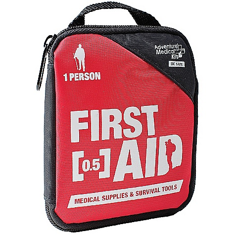 Camp and Hike Adventure Medical Kits Adventure First Aid 0.5 FEATURES of the Adventure First Aid 0.5 by Adventure Medical Wound Cleaning Sting Relief SPECIFICATIONS: Weight: 2.8 oz Size: 4.75in. x 4in. x 1in. - $4.95