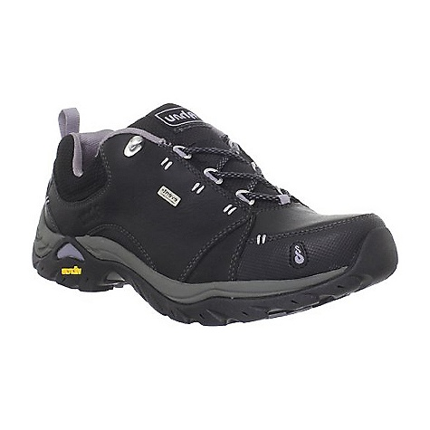 Camp and Hike On Sale. Free Shipping. Ahnu Women's Montara II Waterproof Shoe FEATURES of the Ahnu Women's Montara II Waterproof Shoe Upper: Waterproof leathers, nubucks or suede with a mesh collar and rubber toe and heel wrap Midsole: Double density compression molded EVA with medal and lateral stability postings and shock dispersal plate in forefoot Outsole: 3.5mm cross directional, self-cleaning lugs. Non-marking Vibram rubber outsole Lining: Breathable mesh collar and eVent waterproof bootie Shank: Integrated TPU shank and arch support for torsional rigidity and mid-foot support - $86.99