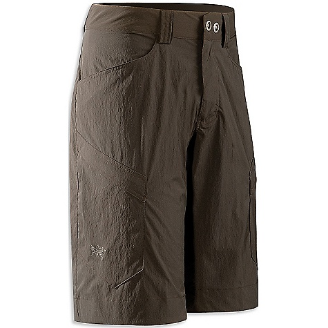 Camp and Hike Free Shipping. Arcteryx Men's Rampart Long Short DECENT FEATURES of the Arcteryx Men's Rampart Long Short Breathable Lightweight Quick-drying Articulated seat Gusseted crotch Two hand pockets Two pleated cargo pockets with flaps Two rear pockets with flaps Front fly with snap closures Belt loops Embroidered logo The SPECS Weight: Medium: 7.4 oz / 211 g Inseam: 12.6in. / 31.7 cm Fit: Relaxed fit Style: Pants/Shorts Light/Athletic Activity: Casual/Urban / Hiking / Rock Climbing Materials: TerraTex-94% nylon 6% lycra blend This product can only be shipped within the United States. Please don't hate us. - $88.95