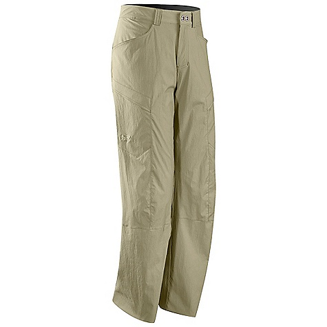 Free Shipping. Arcteryx Men's Rampart Pant DECENT FEATURES of the Arcteryx Men's Rampart Pant TerraTex fabric is lightweight and quick drying Mesh-lined hand pockets, rear pockets, thigh pocket with flaps Zippered fly closure with button and belt loops Articulated patterning, gusseted crotch We are not able to ship Arcteryx products outside the US because of that other thing. The SPECS Fit: Relaxed Weight: M: 10.1 oz / 287 g 94% nylon, 6% spandex This product can only be shipped within the United States. Please don't hate us. - $98.95