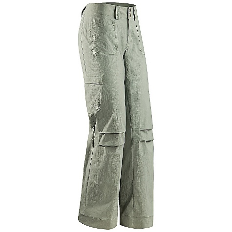 On Sale. Free Shipping. Arcteryx Women's Rampart Pant DECENT FEATURES of the Arcteryx Women's Rampart Pant Articulated knees and seat Two pleated cargo pockets with flaps Two rear pockets with flaps Front fly with snap closures Belt loops Embroidered logo We are not able to ship Arcteryx products outside the US because of that other thing. The SPECS Weight: 8.4 oz / 237 g Inseam: 32in. / 81 cm Fit: Relaxed fit Fabric: TerraTex-94% nylon, 6% spandex This product can only be shipped within the United States. Please don't hate us. - $69.99