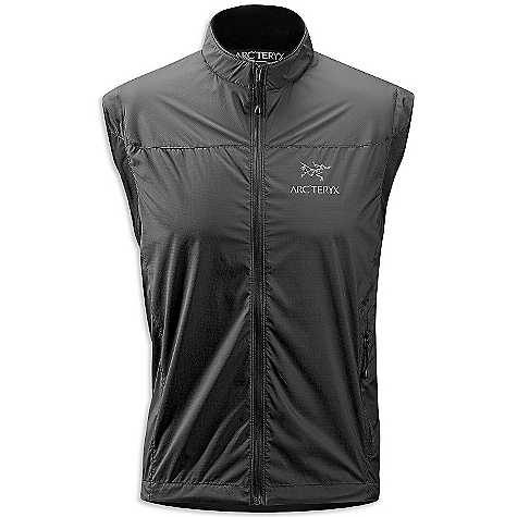 Fitness On Sale. Free Shipping. Arcteryx Men's Celeris Vest DECENT FEATURES of the Arcteryx Men's Celeris Vest Moisture-resistant outer face fabric Lightweight Compressible and packable Wind resistant Mechanical stretch textile for unrestricted mobility - fabric is inherently stretchy without the use of Spandex fibres (jacket) Articulated elbows (jacket) No-lift gusseted underarms (jacket) Soft brushed-lined collar Side stow pocket Full front zip with wind flap Laminated die-cut Velcro cuff adjusters with elastic (jacket) Drop back hem Adjustable hem drawcord Stretch underarm binding DWR finish Reflective logo The SPECS Weight: Medium: 3.6 oz / 101 g Style: Light/Athletic Activity: Endorphin/Fitness / Hiking / Nordic/Snowshoeing / Running / Trekking Fit: Trim fit, waist length Materials: Dry Web-100% polyester double-weave fabric, Charcoal fabric-backer, Schoeller Dynamic GNS-nylon/spandex blend This product can only be shipped within the United States. Please don't hate us. - $83.99