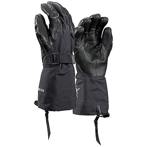 On Sale. Free Shipping. Arcteryx Alpha SV Glove DECENT FEATURES of the Arcteryx Alpha SV Glove N80p-x Gore-Tex Pro 3L waterproof outer shell combined with leather palm overlay Tri-Dex Technology uses a three-lobe pattern providing exceptional dexterity and a three-dimensional precision touch Wide gauntlet slides easily over shell and insulation layers Removable Polartec Wind Pro high loft fleece liner dries quickly Elasticized wrist closure secures glove position during adjustment; removable leashes We are not able to ship Arcteryx products outside the US because of that other thing. We are not able to ship Arcteryx products outside the US because of that other thing. We are not able to ship Arcteryx products outside the US because of that other thing. The SPECS Weight: M: 9.8 oz / 278 g Fit: Athletic e3D N80p-x Gore-Tex Pro 3L outer shell Lezanova palm overlay Polartec Wind Pro high loft fleece liner This product can only be shipped within the United States. Please don't hate us. - $205.99