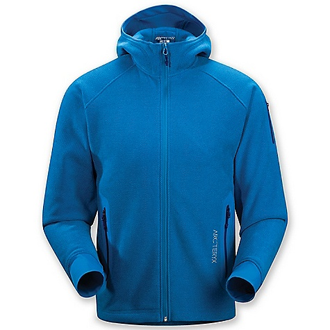 Ski On Sale. Free Shipping. Arcteryx Men's Strato Hoody DECENT FEATURES of the Arcteryx Men's Strato Hoody Moisture wicking, breathable and lightly insulated fabric No-lift gusseted underarms for freedom of movement Full front zipper with chin guard Two hand pockets with laminated zippers Hem cinches tight with adjustable drawcord High warmth-to-weight ratio We are not able to ship Arcteryx products outside the US because of that other thing. We are not able to ship Arcteryx products outside the US because of that other thing. We are not able to ship Arcteryx products outside the US because of that other thing. The SPECS Weight: M: 21.1 oz / 598 g Fit: Relaxed, hip length Polartec Thermal Pro Cobble (64% Recycled Content) Schoeller Dynamic GNS This product can only be shipped within the United States. Please don't hate us. - $133.99