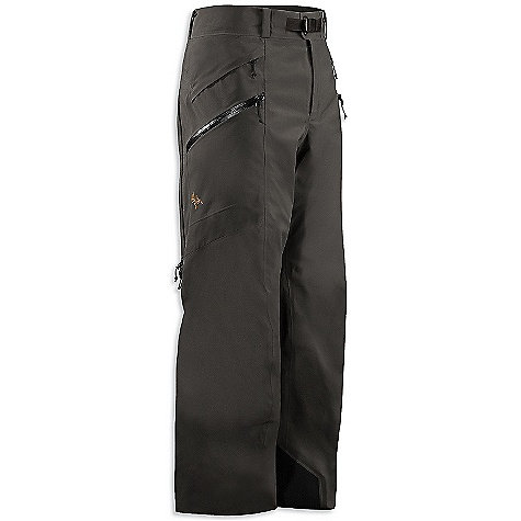 On Sale. Free Shipping. Arcteryx Men's Sabre Pant DECENT FEATURES of the Arcteryx Men's Sabre Pant Waterproof/breathable Gore-Tex with lightly insulated backer Button-fly closure at waist, removable belt loops for adjustability Double side zips open for ventilation Large volume zippered thigh pockets, small zippered hip stash pocket 100D Cordura powder cuffs Keprotec insteps Slide 'n Loc snaps attach to jacket We are not able to ship Arcteryx products outside the US because of that other thing. We are not able to ship Arcteryx products outside the US because of that other thing. We are not able to ship Arcteryx products outside the US because of that other thing. The SPECS Weight: M: 22.1 oz / 626 g Fit: Relaxed N80p-x Gore-Tex fabric with 3L lo-loft Soft shell construction Keprotec Cordura This product can only be shipped within the United States. Please don't hate us. - $238.99