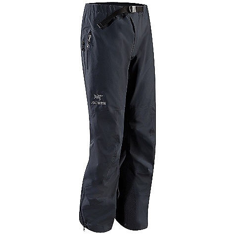 Free Shipping. Arcteryx Men's Beta AR Pant DECENT FEATURES of the Arcteryx Men's Beta AR Pant Waterproof Breathable Lightweight Durable Micro-seam allowance (1.6 mm) reduces bulk and weight Tiny Gore seam tape (13 mm) DWR finish (Durable Water Repellent) helps bead water from fabric surface Gore-Tex three-layer construction Articulated knees and seat Gusseted crotch WaterTight external zippers Molded zipper garages Side zippers stop below harness/ hipbelt area Front fly with snap closure Adjustable pant cuff drawcord Hip stash pocket Reinforced knees, seat and lower legs Powder cuffs with elastic and lace hook Adjustable webbing belt Gore-Tex Pro 3L fabric with reinforced seat, knees, and lower leg E3D anatomical patterning and fit 3/4 length WaterTight side zipper One hip stash pocket with zipper Keprotec in-step patch protects against edge cuts Activity: All Around We are not able to ship Arcteryx products outside the US because of that other thing. We are not able to ship Arcteryx products outside the US because of that other thing. We are not able to ship Arcteryx products outside the US because of that other thing. The SPECS Weight: (M): 17 oz / 491 g Fit: Athletic with e3D Fabric: N40r Gore-Tex Pro 3L, N150p Gore-Tex Pro 3L Keprotec Care Instructions Machine wash in cold water or dry clean Double rinse Wash dark colors separately Do not use fabric softener Remove immediately Do not leave wet Tumble dry on medium heat Do not iron This product can only be shipped within the United States. Please don't hate us. - $349.95