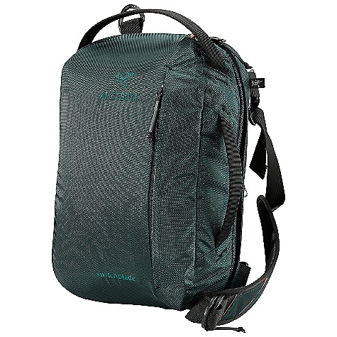 Entertainment Free Shipping. Arcteryx Switchblade Daypack DECENT FEATURES of the Arcteryx Switchblade Daypack Padded back panel with framesheet for carry comfort Carry-on compatible pack for travel or day-to-day use Top and side carry handles Adjustable shoulder strap with pad for shoulder or courier carry External front pocket with key clip and organization slots Separate large compartment for documents, tablets, and laptop Adjustable, suspended laptop sleeve with laminated protector panel is compatible with: up to 15in. Organizer pockets for powercords, cables, etc High visibility liner reveals contents Dual external security pockets for passport / boarding pass The SPECS Volume: 671 cubic inches / 11 liter Weight: 32 oz / 908 g 1260D nylon 6.6 basket weave 6061-T6 aluminum stays Spacermesh EV 50 This product can only be shipped within the United States. Please don't hate us. - $98.95