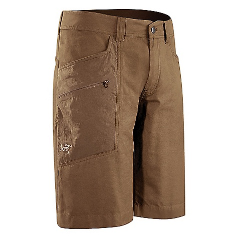 Camp and Hike On Sale. Free Shipping. Arcteryx Men's Adventus Long Short DECENT FEATURES of the Arcteryx Men's Adventus Long Short Moisture-resistant outer face fabric Lightweight Durable DWR finish (Durable Water Repellent) helps bead water from fabric surface Anatomical shaping for fit and comfort Articulated fit for increased range of movement Gusseted crotch Two hand pockets Thigh pocket with laminated zip Two rear pockets Front fly Belt loops Embroidered logo We are not able to ship Arcteryx products outside the US because of that other thing. The SPECS Weight: Medium: 10.5 oz / 298 g Inseam: 11.6in. / 29.5 cm Fit: Relaxed fit Materials: Transitor-47% cotton 40% polyester 13% nylon, Terratex (trim)-94% nylon 6% lycra Style: Pants/Shorts Light/Athletic Activity: Casual/Urban / Hiking / Rock Climbing This product can only be shipped within the United States. Please don't hate us. - $73.99