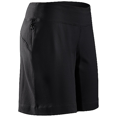 Free Shipping. Arcteryx Women's Escala Short DECENT FEATURES of the Arcteryx Women's Escala Short Flat locked seams lie flat for added comfort Gusseted crotch with cotton insert Hip stash pocket Wide waistband Gel logo We are not able to ship Arcteryx products outside the US because of that other thing. We are not able to ship Arcteryx products outside the US because of that other thing. We are not able to ship Arcteryx products outside the US because of that other thing. The SPECS Weight: (M): 6.2 oz / 175 g Inseam: 8.3in. / 21 cm Fit: Relaxed fit, ankle length Fabric: Stretch Supplex Nylon-86% nylon, 14% spandex Aerix-82% polyester, 18% spandex This product can only be shipped within the United States. Please don't hate us. - $58.95