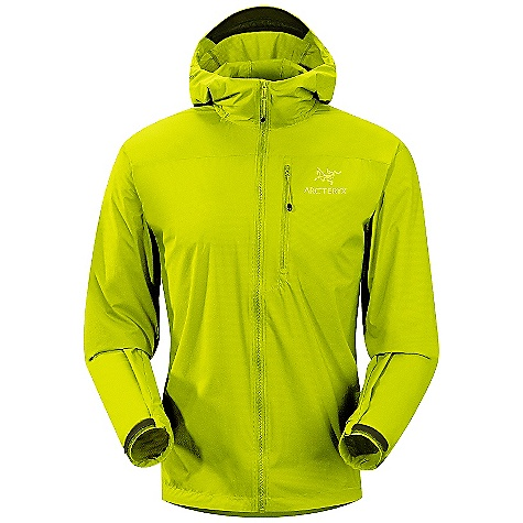 Camp and Hike On Sale. Free Shipping. Arcteryx Men's Squamish Hoody DECENT FEATURES of the Arcteryx Men's Squamish Hoody Lightweight Compressible and packable Durable Wind resistant DWR finish (Durable Water Repellent) helps bead water from fabric surface Soft hood brim Full front zip Laminated die-cut Velcro cuff adjusters reduce bulk, and won't catch or tear off Adjustable hem drawcord Full seat coverage Chest stow pocket with attachment point Reflective logo Articulated elbows and gusseted underarms Helmet compatible Storm Hood with soft hood brim and adjustable hood drawcords Full seat coverage and adjustable hem drawcord Activity: Alpine Climbing / Rock Climbing / Running / Hiking / Trekking The SPECS Weight: (M): 5.1 oz / 146 g Fit: Relaxed, Hip length Fabric: Luminara-100% nylon Luminara-Stretch nylon ripstop fabric with wind and water resistant, air permeable PU coating and DWR finish A super lightweight and breathable stretch fabric with great water repellency and wind resistance Care Instructions Machine wash in cold water or dry clean Tumble dry on low heat Iron on low heat Do not use fabric softener This product can only be shipped within the United States. Please don't hate us. - $110.99