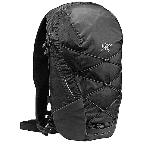 Camp and Hike Free Shipping. Arcteryx Aerios 10 Backpack DECENT FEATURES of the Arcteryx Aerios 10 Backpack Internal zippered pocket is great for clippers, tape, headlamp Bioplastic top grab handle Ergonomically shaped shoulder straps for better carry comfort Adjustable position sternum strap Hydration bladder compatible via the Hydroport and Hydro Tube Clip Modular stowable bungee compression system Internal security pocket and key clip Mesh stow pocket Reflective blades for visibility in low light Adjustable position waistbelt We are not able to ship Arcteryx products outside the US because of that other thing. We are not able to ship Arcteryx products outside the US because of that other thing. The SPECS Volume: 610 cubic inches / 10 liter Weight: 15 oz / 420 g 210D nylon 6.6 ripstop 100D nylon 6.6 mini ripstop Aeroform mesh This product can only be shipped within the United States. Please don't hate us. - $98.95