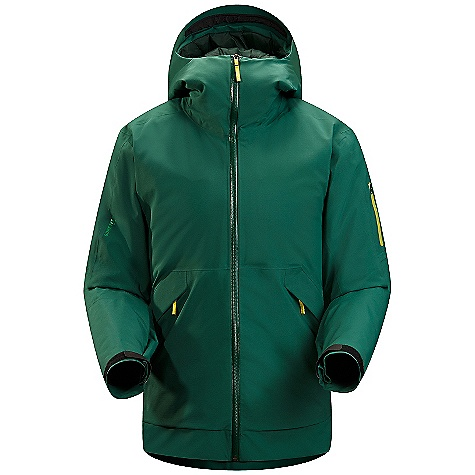Ski On Sale. Free Shipping. Arcteryx Men's Micon Jacket DECENT FEATURES of the Arcteryx Men's Micon Jacket Insulated Durable Micro-seam allowance (1.6 mm) reduces bulk and weight Tiny Gore seam tape (13 mm) DWR finish (Durable Water Repellent) helps bead water from fabric surface Gore-Tex three-layer construction Patterning Articulated knees and seat Smooth inner face-fabric allows for easy layering Articulated elbows No-lift gusseted underarms Laminated brim Stealth hood adjusters Helmet compatible insulated Storm Hood Integrated fitted collar panel for added warmth and comfort Laminated chin guard Water Tight external zippers Pit zippers for easy venting Full front zip with wind flap Webbing zipper pulls Easy-sliding sleeve lining won't bind on other layers Laminated die-cut Velcro cuff adjusters with elastic Large cuffs to fit over gloves Adjustable hem drawcord Internal chest pocket with laminated zip Internal mesh pocket Internal MP3/key/card pocket with zip Laminated sleeve pocket with laminated zip Two high-volume hand pockets with zips Powder skirt with gripper elastic and snap closure Mesh-lined powder guard vents for breathability, designed to prevent snow from entering clothing Lift pass loop Hidden Recco reflector Supple Gore-Tex Pro is lightweight, windproof, waterproof, breathable Core loft insulation and plush Co reline combine for maximum warmth Pit zips with mesh Powder Guard vents keep out snow, vent heat Insulated Storm Hood large volume hand pockets, interior mesh dump pocket zippered media pocket, small zippered internal pocket Recon reflector aids emergency location powder skirt with stretch panel Activity: Big Mountain Skiing We are not able to ship Arcteryx products outside the US because of that other thing. We are not able to ship Arcteryx products outside the US because of that other thing. We are not able to ship Arcteryx products outside the US because of that other thing. The SPECS Weight: (M): 34 oz / 976 g Fit: Relaxed, hip length Fabric: N70p Gore-Tex Pro 3L Core loft 100 insulation (100 g / m2) Core line Care Instructions Machine wash in warm water Do not use fabric softener Front load washing machine recommended (use a mesh bag for top loading machines) Tumble dry on low heat Do not iron This product can only be shipped within the United States. Please don't hate us. - $558.99