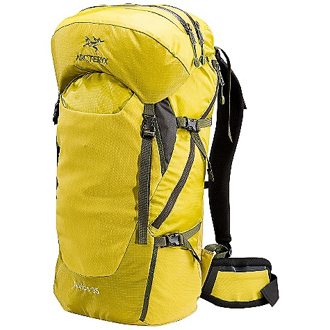 Camp and Hike On Sale. Free Shipping. Arcteryx Men's Axios 35 Backpack DECENT FEATURES of the Arcteryx Men's Axios 35 Backpack Side zipper access Reinforced high wear areas Stretch-mesh kangaroo pocket with elastic bungee cord closure Two stretch-mesh pockets Anatomically shaped shoulder straps and hipbelt Breathable shoulder straps and hipbelt Top loading Lightweight, top loading pack with highly-breathable shoulder/harness straps maintains comfort during aerobic activity AeroForm backpanel disperses perspiration, improves breathablity Twin aluminium stays and anatomically shaped shoulder straps and hip-belt provide solid support while in motion Modular sternum strap Removable / extendable top lid with two zippered compartments Top grab handle Four compression straps Key clip Micro daisy chains Kangaroo pocket Map pocket Stretch-mesh stash pockets on hip-belt Hydration bladder sleeve with HydroPort and modular hose clip Activity: Nordic/Snowshoeing / Hiking We are not able to ship Arcteryx products outside the US because of that other thing. We are not able to ship Arcteryx products outside the US because of that other thing. We are not able to ship Arcteryx products outside the US because of that other thing. The SPECS Material: Spacer mesh 100D Invista HT Mini Ripstop with silicone and PU coatings 420D Invista HT Plain Weave EV50 foam Hypalon trim 210D Ripstorm with silicone and PU coatings 840D Stretch mesh AeroForm mesh EV50 Perforated foam 6005 M-Bar custom extruded stays HDPE frame sheet The SPECS for Regular Weight: 43 oz / 1.22 kg Volume: 2136 cubic inches / 35 liter Extends To: 2319 cubic inches / 38 liter The SPECS for Tall Weight: 45 oz / 1.27 kg Volume: 2258 cubic inches / 37 liter Extends To: 2502 cubic inches / 41 liter Care Instructions Surface clean only This product can only be shipped within the United States. Please don't hate us. - $149.99