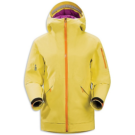 On Sale. Free Shipping. Arcteryx Women's Sarissa Jacket DECENT FEATURES of the Arcteryx Women's Sarissa Jacket Supple Gore-Tex Pro is Light weight, windproof, waterproof, breathable Coreloft insulation and plush Coreline combine for maximum warmth Powder Guard vents are mesh central panel blocks snow when open, insulates zipper when closed Insulated Storm Hood large volume hand pockets, interior mesh dump pocket zippered media pocket, small zippered internal pocket Recco reflector aids emergency location powder skirt with stretch panel We are not able to ship Arcteryx products outside the US because of that other thing. We are not able to ship Arcteryx products outside the US because of that other thing. We are not able to ship Arcteryx products outside the US because of that other thing. The SPECS Weight: (M): 30.5 oz / 865 g Fit: Relaxed, hip length Fabric: N70p Gore-Tex Pro 3L Coreloft 100 insulation (100 g / m2) Coreline This product can only be shipped within the United States. Please don't hate us. - $598.99