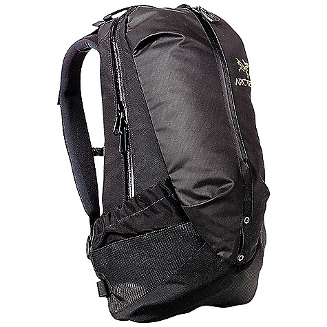 Camp and Hike The Arc'teryx Arro 22 Backpack is a commuter daypack for school, work, and travel. The Arro is super durable and Highly water-resistant, so you don't have to worry if it starts to sprinkle on your bike ride to the office. The main pocket Features a sleeve, ready to carry up to a 15 inch laptop, or a hydration bladder on your weekend hike. The minimalist style of this pack won't have organizational pockets, but the front kangaroo pocket is ready to handle a rain jacket or extra layer. Dual Density shoulder straps Are cush against the shoulders and a webbing hipbelt prevents it from bouncing around when in a hurry. Specifications of the Arcteryx Arro 22 Backpack Hybrid construction strategically utilizesweather resistant Armorlite(TM) anddurable nylon fabrics Panel loading main compartment Large kangaroo pocket and external sidepockets for accessible storage WaterTight external zippers help keep moisture out Dual Density shoulder straps, thermoformed back panel, polyethylene framesheet Attachment loop for bike safety light Hydration bladder compatible - $199.00