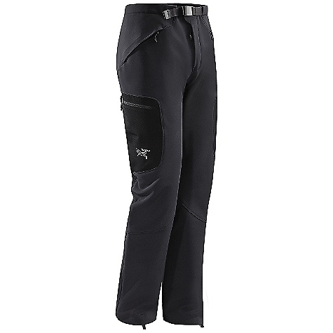 Climbing Free Shipping. Arcteryx Men's Gamma SV Pant DECENT FEATURES of the Arcteryx Men's Gamma SV Pant Moisture-resistant outer face fabric Snow-shedding Insulated Durable DWR finish (Durable Water Repellent) helps bead water from fabric surface Front fly Seamless instep to reduce abrasion Stretch pant cuff with lace hook and adjustable drawcord Weather resistant, breathable, wind-resistant outer face fabric with DWR finish Gusseted crotch for increased mobility Two hand pockets with zippers two thigh pockets with laminated zippers Adjustable webbing belt dual snap waist closure Activity: Alpine Climbing / Ice Climbing The SPECS Weight: (M): 24.6 oz / 700 g Fit: Trim Fabric: Fortius 3.0 Care Instructions Machine wash in cold water Wash dark colors separately Tumble dry on low heat Iron on low heat Do not use fabric softener This product can only be shipped within the United States. Please don't hate us. - $298.95