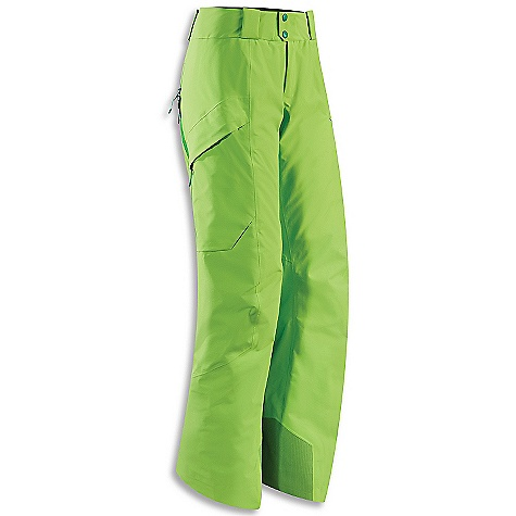 Ski Free Shipping. Arcteryx Women's Sarissa Pant DECENT FEATURES of the Arcteryx Women's Sarissa Pant Breathable Insulated Windproof, waterproof, durable Gore-Tex with stands winter Micro-seam allowance (1.6 mm) reduces bulk and weight DWR finish (Durable Water Repellent) helps bead water from fabric surface Gore-Tex three-layer construction Tiny GORE seam tape (13 mm and 19 mm) Articulated knees and seat WaterTight front fly zip Keprotec instep patches provide superior protection against damage by boots, crampons and ski edges Core loft insulation delivers low profile, radiant warmth Mesh-lined powder guard vents for breathability, designed to prevent snow from entering clothing Volume cargo pockets on thighs wallet stash pocket Recco reflector aids emergency location powder cuffs seal out snow Activity: Big Mountain Skiing Powder cuffs with gripper elastic Adjustable integrated webbing belt Belt loops Snap waist closure We are not able to ship Arcteryx products outside the US because of that other thing. We are not able to ship Arcteryx products outside the US because of that other thing. We are not able to ship Arcteryx products outside the US because of that other thing. The SPECS Weight: (M): 27.2 oz / 772 g Lengths: Regular Fit: Relaxed Fabric: N70p Gore-Tex Pro 3L Coreloft 60 insulation (60 g / m2) Coreline liner fabric Keprotec Care Instructions Machine wash in warm water Do not use fabric softener Front load washing machine recommended (use a mesh bag for top loading machines) Tumble dry on low heat Do not iron This product can only be shipped within the United States. Please don't hate us. - $498.95