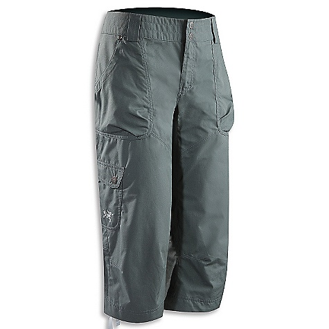 Free Shipping. Arcteryx Women's Rana Capri DECENT FEATURES of the Arcteryx Women's Rana Capri Durable, lightweight cotton/nylon blend canvas Two hand pockets with volume pleats, one cargo pocket, two back pockets Rivets on stress points add durability Roll up hem with snaps for added versatility Wide waist band We are not able to ship Arcteryx products outside the US because of that other thing. We are not able to ship Arcteryx products outside the US because of that other thing. We are not able to ship Arcteryx products outside the US because of that other thing. The SPECS Weight: M: 8.8 oz / 250 g Fit: Athletic Fabric: 3.8 oz Canvas - 68% cotton, 32% nylon This product can only be shipped within the United States. Please don't hate us. - $88.95