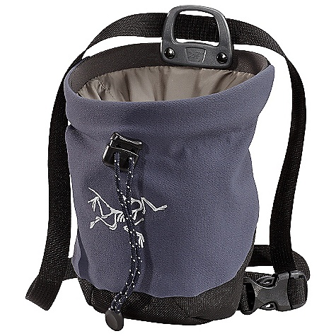 Climbing The Arc'teryx C40 Chalk Bag is a small chalk bag for rock Climbing. Whether you're harnessed up or just doing some bouldering, the C40 can be clipped to your harness via carabiner or attached to your waist with the included belt. The inside is lined with polar fleece, soft against the hands and a drawcord closure keeps the chalk from finding its way out. The brush holder allows you to quickly clean holds when on the move and the bottle opener is ready to pop open a cold one after a long day on the rocks. Features of the Arcteryx C40 Chalk Bag Drawcord closure Injection molded belt attachment/slider Bottle opener Brush holder Waist belt Activity: Rock Climbing Burly double weave four-way stretch Schoeller dynamic - $35.00