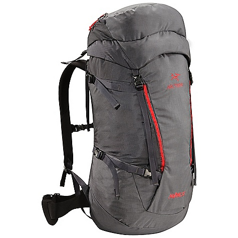 Climbing Free Shipping. Arcteryx Nozone 55 Backpack DECENT FEATURES of the Arcteryx Nozone 55 Backpack C2 (Composite Construction) system Twin 6005-T6 extruded aluminum M-bar stays removable Top loading with double-pull, easy open collar cordlock system Removable top lid with zippered compartment and key clip Extendable collar and top lid adds additional capacity Dual haul loops permit hauling on route or clipping off at the belays Thermoformed anatomically shaped shoulder straps Adjustable position sternum strap Four compression straps - two on each side Stretch-mesh wand pocket Reinforced high wear areas for greater durability Dual P'ax ice tool carry systems Bungee front attachment system for carrying crampons or stashing layers Skis can be carried in an A-frame configuration Thermoformed hipbelt padding for long-haul comfort Removable 50 mm / 2 inch webbing hipbelt We are not able to ship Arcteryx products outside the US because of that other thing. We are not able to ship Arcteryx products outside the US because of that other thing. We are not able to ship Arcteryx products outside the US because of that other thing. The SPECS 210D nylon 6.6 plain weave 420D nylon 6.6 plain weave 100D mini ripstop 6005-T6 extruded aluminum M-bar stays HD 80 foam Burly Double Weave 500D ATY nylon 6.6 silicone treated with PU Hypercell foam Spacermesh The SPECS for Short Volume: 3234 cubic inches / 53 liter Weight: 46 oz / 1318 g Extend To: 3844 cubic inches / 63 liter The SPECS for Regular Volume: 3356 cubic inches / 55 liter Weight: 48 oz / 1350 g Extend To: 3966 cubic inches / 65 liter The SPECS for Tall Volume: 3478 cubic inches / 57 liter Weight: 49 oz / 1386 g Extend To: 4088 cubic inches / 67 liter This product can only be shipped within the United States. Please don't hate us. - $274.95