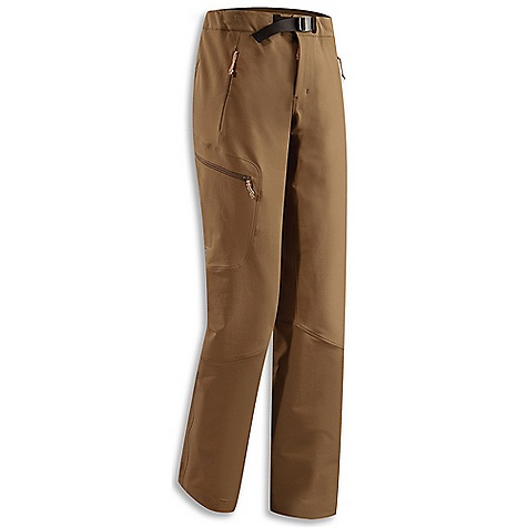Free Shipping. Arcteryx Women's Gamma AR Pant FEATURES of the Arcteryx Women's Gamma AR Pant Burly Double Weave is a durable moisture and wind resistant fabric with 4-way stretch, outer face has DWR finish Brushed polyester waistband, zippered fly closure with adjustable webbing belt Gusseted crotch and articulated patterning for full range of motion Two hand pockets with zippers, one thigh pocket with zipper Trim cuffs with lace hook and static cord adjuster, seamless instep to deter snagging - $198.95