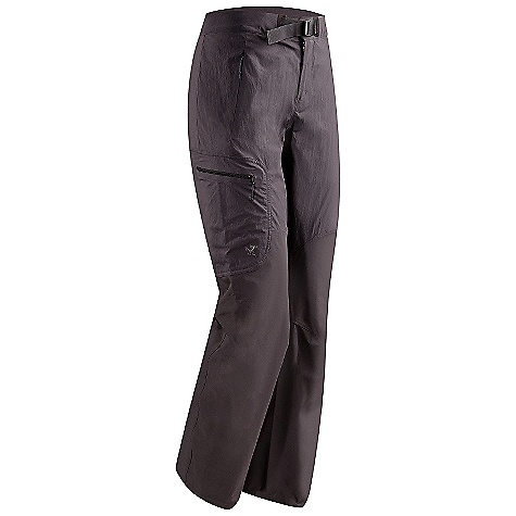 Free Shipping. Arcteryx Women's Gamma SL Hybrid Pant DECENT FEATURES of the Arcteryx Women's Gamma SL Hybrid Pant Air permeable TerraTex body combined with durable Fortius 1.0 stretch fabric reinforcements Articulated patterning and gusseted crotch allows full mobility Two zippered front hand pockets with an oversized zippered thigh pocket Hem drawcords for an adjustable fit We are not able to ship Arcteryx products outside the US because of that other thing. We are not able to ship Arcteryx products outside the US because of that other thing. We are not able to ship Arcteryx products outside the US because of that other thing. The SPECS Weight: M: 10.7 oz / 304 g Fortius 1.0 - 84% nylon, 16% spandex TerraTex - 94% nylon, 6% spandex Fit: Trim, straight leg This product can only be shipped within the United States. Please don't hate us. - $198.95
