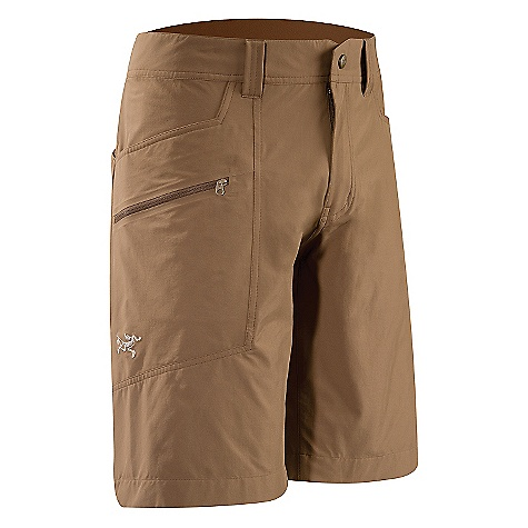 Free Shipping. Arcteryx Men's Perimeter Short DECENT FEATURES of the Arcteryx Men's Perimeter Short Made of easy moving nylon/spandex blend fabric Articulated patterning, gusseted crotch Mesh lined hand and rear pockets, cargo pocket We are not able to ship Arcteryx products outside the US because of that other thing. We are not able to ship Arcteryx products outside the US because of that other thing. We are not able to ship Arcteryx products outside the US because of that other thing. The SPECS Weight: M: 8.3 oz / 238 g Fit: Athletic Fabric: Cresta - 89% nylon, 11% spandex This product can only be shipped within the United States. Please don't hate us. - $98.95