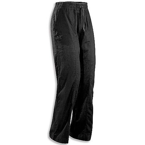 Free Shipping. Arcteryx Women's Arida Pant DECENT FEATURES of the Arcteryx Women's Arida Pant Waist is lined with comfortable jersey knit fabric Drawstring pant hem Two hand pockets and two back pockets Breathable Lightweight Warm-weather comfort Women's specific design and fit Anatomical shaping for fit and comfort Adjustable pant cuff drawcord Elasticized waist Wide, comfortable waistband Waist drawcord Activity: Casual/Urban The SPECS Inseam: 81 cm Weight: (M): 10.6 oz / 303 g Fit: Relaxed Fabric: Soltica-55% linen, 45% cotton Cotton/Linen blend Care Instructions Machine wash in warm water or dry clean Wash dark colors separately Tumble dry on medium heat Iron on medium heat This product can only be shipped within the United States. Please don't hate us. - $69.00