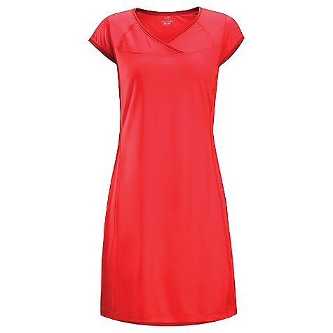 Entertainment Free Shipping. Arcteryx Women's Kapta Dress DECENT FEATURES of the Arcteryx Women's Kapta Dress Durable, quick dry Crystalis wicks moisture for comfort and temperature regulation Mid-length design and crossover neck accommodate free range of motion Mesh back increases ventilation Strategically placed flatlocked seams prevent chafing The SPECS Weight: M: 2.7 oz / 77 g Fit: Trim, mid thigh length Fabric: Crystalis - 87% polyester, 13% spandex, Libro mesh - 100% polyester This product can only be shipped within the United States. Please don't hate us. - $64.95