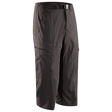 Free Shipping. Arcteryx Men's Palisade Cropper Pant DECENT FEATURES of the Arcteryx Men's Palisade Cropper Pant Made of lightweight, breathable, quick-drying TerraTex fabric Brushed polyester waistband prevents chafing Articulated patterning with gusseted crotch for freedom of movement Slash hand pockets, two cargo pockets with laminated zipper and volume pleats We are not able to ship Arcteryx products outside the US because of that other thing. We are not able to ship Arcteryx products outside the US because of that other thing. We are not able to ship Arcteryx products outside the US because of that other thing. The SPECS Weight: 8.2 oz / 233 g Inseam: 20in. / 51 cm Fit: Athletic fit Fabric: TerraTex-94% nylon, 6% spandex This product can only be shipped within the United States. Please don't hate us. - $124.95