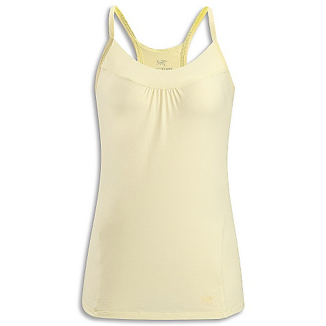 Arcteryx Women's Moveo Strappy Tank DECENT FEATURES of the Arcteryx Women's Moveo Strappy Tank Stretchy fabric provides freedom of movement T-back with thin straps Anatomical shaping for fit and comfort Gel logo The SPECS Weight: (M): 2.6 oz / 74 g Fit: Trim fit, hip length Support: Low impact Fabric: Cotton Knit-92% cotton 8% spandex This product can only be shipped within the United States. Please don't hate us. - $34.95