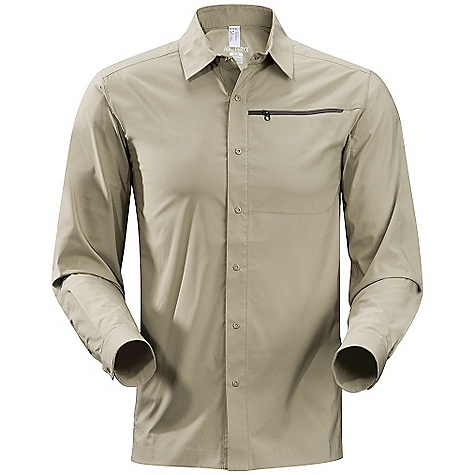 Camp and Hike Free Shipping. Arcteryx Men's Skyline L-S Shirt DECENT FEATURES of the Arcteryx Men's Skyline Long Sleeve Shirt Moisture-wicking Breathable Lightweight Quick-drying Wrinkle resistant Articulated patterning for unrestricted mobility Articulated elbows (Long sleeve) No-lift gusseted underarms Chest pocket with hidden zip Laminated hem Tonal metal snap closures on cuffs Front placket with tonal metal snap closures Non-chafing label Heat transfer logo UPF 35 + We are not able to ship Arcteryx products outside the US because of that other thing. The SPECS Weight: Medium: 6.4 oz / 184 g Fit: Relaxed fit Materials: Invigor LT-100% polyester weave with mechanical stretch Style: Shirts/Tops Collared Activity: Casual/Urban / Hiking / Rock Climbing / Trekking This product can only be shipped within the United States. Please don't hate us. - $118.95