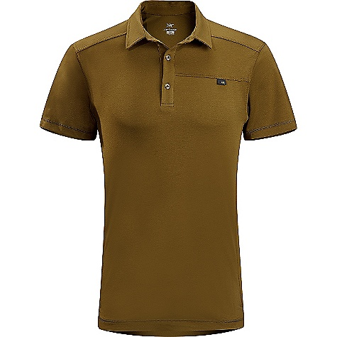 Free Shipping. Arcteryx Men's Captive Polo SS Shirt DECENT FEATURES of the Arcteryx Men's Captive Polo Short Sleeve Shirt Breathable, lightweight and quick-drying Gusseted underarms for freedom of movement Front placket with button closures Reinforced side vents at hemline We are not able to ship Arcteryx products outside the US because of that other thing. We are not able to ship Arcteryx products outside the US because of that other thing. We are not able to ship Arcteryx products outside the US because of that other thing. The SPECS Weight: M: 7.1 oz / 200 g Fit: Trim Fabric: DryTech - 60% cotton, 35% polyester, 5% spandex This product can only be shipped within the United States. Please don't hate us. - $68.95