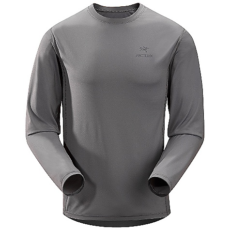 Camp and Hike On Sale. Free Shipping. Arcteryx Men's Ether L-S Crew DECENT FEATURES of the Arcteryx Men's Ether Long Sleeve Crew Moisture-wicking Breathable Lightweight Durable Quick-drying Flatlocked seams lie flat for added comfort Gusseted underarms for freedom of movement Crew neck Non-chafing label UPF 50 + Screen printed logo Activity: Rock Climbing / Hiking The SPECS Weight: (M): 5.3 oz / 149 g Fit: Trim, Hip length Fabric: Helius-100% polyester 112 g/m2 Care Instructions Machine wash in cold water Hang to dry Do not use fabric softener Do not iron This product can only be shipped within the United States. Please don't hate us. - $58.99