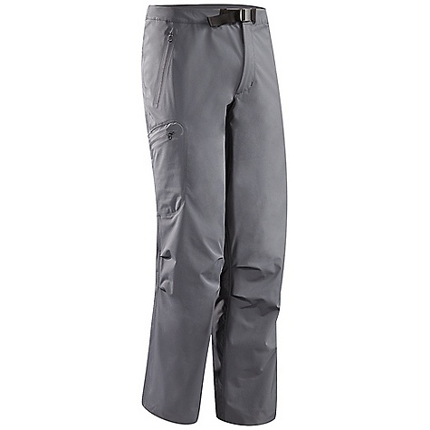 Free Shipping. Arcteryx Men's Gamma LT Pant FEATURES of the Arcteryx Men's Gamma LT Pant Fortius 1.0 fabric is durable, lightweight, with good stretch, DWR finish Brushed polyester waistband, zippered fly with snap and adjustable webbing belt Gusseted crotch and articulated patterning for full range of motion Two hand pockets and one thigh pocket with zipper Laminated hem with static cord adjuster Front fly with snap closure Stretchy fabric provides freedom of movement Gender specific patterning Adjustable pant cuff drawcord - $179.00