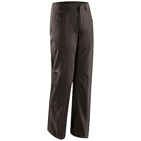 The Arc'teryx Men's Bastion Pant is a canvas pant for rock Climbing and daily wear. The midweight fabric is 6.5 ounce cotton/nylon canvas, providing durability against the rocks and all day comfort. Articulated patterning, knees and seat plus a gusseted crotch create easy, natural movement whether you're chillin' with friends or reaching new heights in your harness. The usual 5 pockets you'd predict Are right where you need them for holding onto wallet, phone, or perhaps a boulder brush. Features of the Arcteryx Men's Bastion Pant Midweight cotton/nylon blended canvas for durability Articulated patterning and gusseted crotch for ease of movement Two hand pockets, two back pockets, coin pocket, accessory pocket on leg Embroidered BIRD logo - $48.99