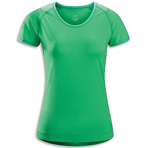 Free Shipping. Arcteryx Women's Mentum SS Tee DECENT FEATURES of the Arcteryx Women's Mentum Short Sleeve Tee Flatlocked seams lie flat for added comfort Smooth outer-face fabric for easy layering Anatomical shaping for fit and comfort Gel logo UPF 50+ We are not able to ship Arcteryx products outside the US because of that other thing. We are not able to ship Arcteryx products outside the US because of that other thing. We are not able to ship Arcteryx products outside the US because of that other thing. The SPECS Weight: M: 3.8 oz / 108 g Fit: Athletic fit, hip length Fabric: Crystalis - 87% polyester, 13% spandex This product can only be shipped within the United States. Please don't hate us. - $58.95