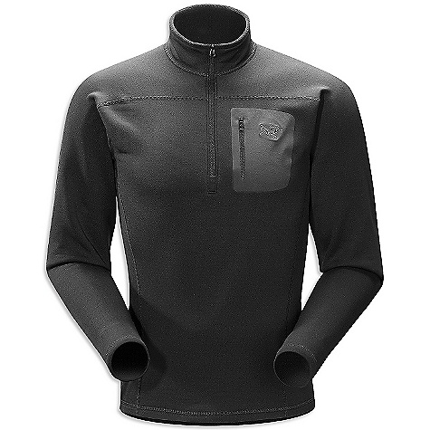 Free Shipping. Arcteryx Men's RHO AR Top DECENT FEATURES of the Arcteryx Men's RHO AR Top Mid-weight moisture wicking fabric has great warmth-to-weight ratio Laminated chest pocket with laminated zipper Collar zipper for improved venting, easy on/off We are not able to ship Arcteryx products outside the US because of that other thing. We are not able to ship Arcteryx products outside the US because of that other thing. We are not able to ship Arcteryx products outside the US because of that other thing. The SPECS Weight: (M): 11.1 oz / 316 g Fit: Trim fit Fabric: Polartec Power Stretch This product can only be shipped within the United States. Please don't hate us. - $124.95