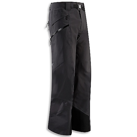 Ski On Sale. Free Shipping. Arcteryx Men's Sabre Pant FEATURES of the Arcteryx Men's Sabre Pant Waterproof Lightly insulated Micro-seam allowance (1.6 mm) reduces bulk and weight Tiny Gore seam tape (13 mm) DWR finish (Durable Water Repellent) helps bead water from fabric surface Gore-Tex three-layer construction Thigh vents Articulated knees and seat Gusseted crotch Water Tight external zippers Front fly with snap closure Two hand pockets with flaps Two cargo pockets with Water Tight zippers Our Water Tight zippers are highly water resistant, but not waterproof We do not recommend keeping items in your pockets that may be damaged by moisture Hidden Recco reflector Powder cuffs with gripper elastic Heat transfer logo Belt loops Removable waist belt Durable, weatherproof Gore-Tex fabric is breathable, supple Side vents open for ventilation two zippered thigh cargo pockets for secure storage, hip stash pocket Slide'n Loc snaps attach to jacket Keprotec insteps guard against abrasion from edges, bindings Recon reflector aids in emergency location powder cuffs fit over boots Activity: Big Mountain Skiing - $200.99