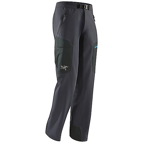 Ski Free Shipping. Arcteryx Men's Gamma MX Pant DECENT FEATURES of the Arcteryx Men's Gamma MX Pant Fortius 2.0 fabric is weather and wind resistant, air permeable and lightly insulated DWR finish Waist has a zippered fly with snap and adjustable webbing closure for good fit Gusseted crotch, stretch fabric allows freedom of movement Two hand pockets, two thigh pockets, right thigh with Velcro flap closure, left zippered thigh pocket Keprotec insteps guard against abrasion from edges We are not able to ship Arcteryx products outside the US because of that other thing. We are not able to ship Arcteryx products outside the US because of that other thing. We are not able to ship Arcteryx products outside the US because of that other thing. The SPECS Weight: M: 16.6 oz / 563 g Fit: Athletic, boot cut Fortius 2.0 - 53% polyester, 27% nylon, 20% polyurethane Keprotec This product can only be shipped within the United States. Please don't hate us. - $298.95