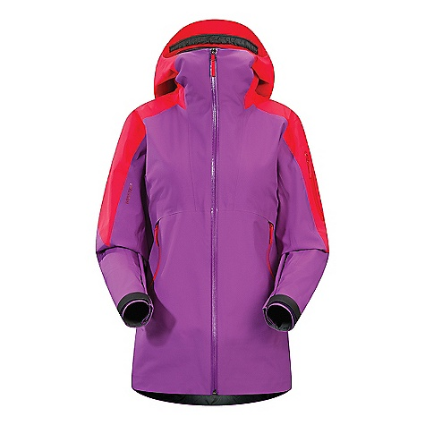 Ski On Sale. Free Shipping. Arcteryx Women's Sentinel Jacket DECENT FEATURES of the Arcteryx Women's Sentinel Jacket Waterproof Breathable Durable Micro-seam allowance (1.6 mm) reduces bulk and weight Gore-Tex three-layer construction Tiny GORE seam tape (13 mm and 19 mm) Women's specific design and fit Gathered fabric sections on front for aesthetic design Anatomical shaping for fit and comfort Articulated elbows No-lift gusseted underarms Laminated brim Stealth hood adjusters Laminated chin guard Slide'n Loc snap powder skirt with stretch panel attaches to pant for one piece protection WaterTight full length front zip Webbing zipper pulls Laminated die-cut Velcro cuff adjusters reduce bulk, and won't catch or tear off Large cuffs to fit over gloves Laminated hem Adjustable hem drawcord Internal chest pocket with laminated zipv Internal mesh pocket Laminated sleeve pocket with laminated zip Powder skirt with gripper elastic and snap closure Lift pass loop Hidden Recco reflector Two high-volume hand pockets, bicep pocket and internal pocket provide varied, easy access storage Pit zippers aid temperature regulation Storm Hood fits over helmet Recco reflector aids in emergency location Activity: Big Mountain Skiing We are not able to ship Arcteryx products outside the US because of that other thing. We are not able to ship Arcteryx products outside the US because of that other thing. We are not able to ship Arcteryx products outside the US because of that other thing. The SPECS Weight: (M): 20 oz / 568 g Fit: Relaxed Fabric: N70p Gore-Tex fabric with 3L lo-loft soft shell construction Care Instructions Machine wash in warm water Double rinse Do not use fabric softener Tumble dry on low heat Do not iron This product can only be shipped within the United States. Please don't hate us. - $328.99