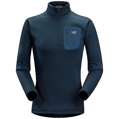 The Arc'Teryx Men's RHO AR Zip Neck is a long sleeve quarter zip for High output fun in cold weather. Trail to slopes, Climbing to mountaineering, if you're outdoors and the temps drop this Polartec Power Stretch will be the one to help you stay warm. It'll wick the moisture as you start to sweat, then dry quickly so you stay quite comfy, intent on finishing your mileage for the day or Finally Climbing that challenging section along the route. The quarter zip opens up to release heat fast when you're on the move and the next-to-skin Fit stays close to the body, so just forget about getting any fabric snagged on branches. Oh look! There's a chest pocket for you to put a piece of candy inside! Don't choose chocolate, that'll melt all over the place. Features of the Arcteryx Men's RHO AR Zip Neck Midweight moisture wicking fabric has great warmth-to-weight ratio Trim Fit aids thermal efficiency and rapid moisture transfer Flatlock construction improves next-to-skin comfort Zip neck provides rapid ventilation while a taller collar provides warmth Single laminated chest pocket Thermally efficient moisture wicking base layer Provides High Performance and weather protection and Highlights a range of Features to give all around versatility in multiple activities Trim, next-to-body Fit and elastane content increases thermal efficiency by keeping fabric in constant contact with the body - $145.00