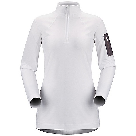 Free Shipping. Arcteryx Women's RHO LT Zip Neck DECENT FEATURES of the Arcteryx Women's RHO LT Zip Neck Rho fabric has a plush, rich feel Trim fit aids thermal efficiency and rapid moisture transfer Flat locked seams improve next-to-skin comfort Zip neck for improved venting Single laminated sleeve pocket We are not able to ship Arcteryx products outside the US because of that other thing. We are not able to ship Arcteryx products outside the US because of that other thing. We are not able to ship Arcteryx products outside the US because of that other thing. The SPECS Weight: M: 7.5 oz / 214 g Torrent - 84% polyester, 16% spandex Polygiene Fit: Next-to-skin This product can only be shipped within the United States. Please don't hate us. - $118.95