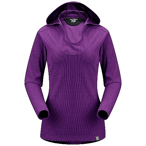 Free Shipping. Arcteryx Women's Lodyn Hoody DECENT FEATURES of the Arcteryx Women's Lodyn Hoody Natural material has thermal properties Slim fitting cut keeps warmth close to core Smooth backer does not irritate skin Moisture-wicking Breathable Lightly insulated Minimal odor retention Relaxed hood Scooped neckline Long cuffs Activity: All Around We are not able to ship Arcteryx products outside the US because of that other thing. The SPECS Weight: (M): 11.5 oz / 325 g Fit: Trim, hip length Fabric: Polartec Power Dry with Wool - 70% polyester, 30% wool Care Instructions Machine wash in cold water Wash dark colors separately Do not use fabric softener Hang to dry Do not iron This product can only be shipped within the United States. Please don't hate us. - $124.95