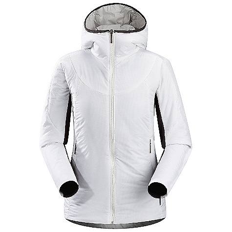 Ski On Sale. Free Shipping. Arcteryx Women's Ceva Hoody DECENT FEATURES of the Arcteryx Women's Ceva Hoody 100% nylon Colbri fabric is lightweight yet durable DWR finish sheds moisture Helius Comp stretch side panels give low profile fit and ventilation 80 g of Coreloft insulation provides good warmth Trim scuba hood with no adjustability Insulated hand pockets We are not able to ship Arcteryx products outside the US because of that other thing. We are not able to ship Arcteryx products outside the US because of that other thing. We are not able to ship Arcteryx products outside the US because of that other thing. The SPECS Weight: M: 14.6 oz / 415 g Colbri - 100% Nylon Helius Comp Coreloft 80 insulation (80 g/m2) Fit: Trim, hip length This product can only be shipped within the United States. Please don't hate us. - $148.99