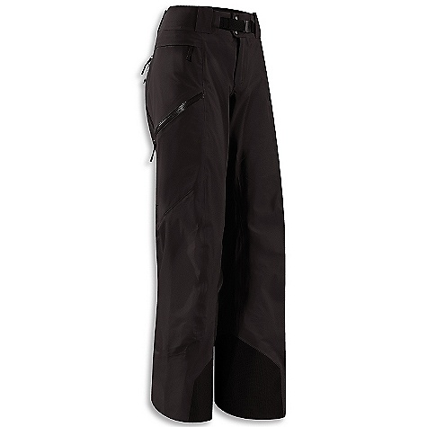 On Sale. Free Shipping. Arcteryx Women's Sentinel Pant FEATURES of the Arcteryx Women's Sentinel Pant Waterproof/breathable Gore-Tex with lightly insulated backer Double side zips open for ventilation Button-fly closure at waist, removable belt loops for adjustability Large volume zippered thigh pockets, small zippered hip stash pocket Slide and Loc snaps attach to jacket 100D Cordura powder cuffs; Keprotec insteps guard against abrasion from edges - $266.99