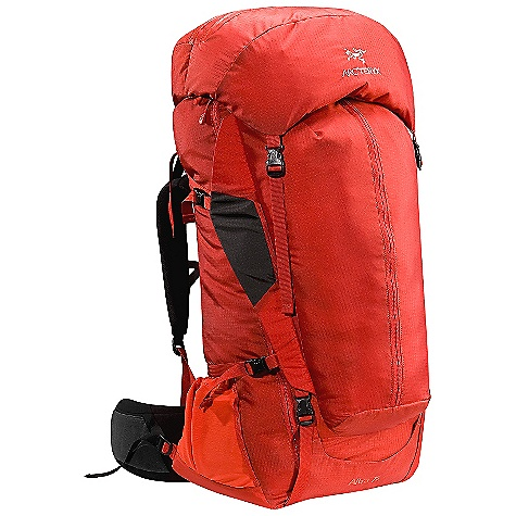 Camp and Hike On Sale. Free Shipping. Arcteryx Men's Altra 75 Backpack DECENT FEATURES of the Arcteryx Men's Altra 75 Backpack Lightweight Pivoting hipbelt with Load Transfer Disc provides increased agility and stability Top grab handle Padded bottom Occipital cavity provides unrestricted head movement Laminated zipper protector, doubles as a compression storage flap Reinforced high wear areas Key clip HydroPort Modular hose clip Internal hydration pocket with zip Modular sternum strap Adjustable shoulder straps Breathable shoulder straps and hipbelt Thermoformed triple-density hipbelt Panel loading Four compression straps - two on each side Micro daisy chains Top loading pack with full-length U-zipper access Load Transfer Disc Twin removable aluminum stays for durable support Arc'teryx AC2 (Advanced Composite Construction) suspension system Anatomically shaped shoulder straps fasten to main pack with customized GridLock adjustment system Extendable collar with drawcord for additional capacity Removable/ extendable top lid with two zippered compartments Padded compression wings allow additional storage configurations Kangaroo pocket with top compression strap Map pocket, and two stretch-mesh pockets Hydration system Activity: Trekking We are not able to ship Arcteryx products outside the US because of that other thing. The SPECS Material: 100D Invista HT Mini Ripstop with silicone and PU coatings 420act fabric 420D Invista HT Plain Weave EV50 foam Hypalon trim Spacermesh 210D Ripstorm with silicone and PU coatings 840D Stretch mesh EV50 Perforated foam 6005 M-Bar custom extruded stays Plastazote HD80 The SPECS for Regular Weight: 81 oz / 2.3 kg Volume: 4577 cubic inches / 75 liter Extend To: 5004 cubic inches / 82 liter The SPECS for Tall Weight: 85 oz / 2.4 kg Volume: 4821 cubic inches / 79 liter Extend To: 5248 cubic inches / 86 liter Care Instructions Surface clean only This product can only be shipped within the United States. Please don't hate us. - $317.99