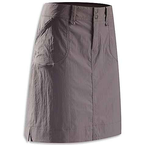 Free Shipping. Arcteryx Women's Parapet Skirt DECENT FEATURES of the Arcteryx Women's Parapet Skirt Lightweight, durable fabric with stretch Subtle A-line style, mid-thigh length Wide waistband with belt loops, two snap closure Hand pockets, two rear pockets We are not able to ship Arcteryx products outside the US because of that other thing. We are not able to ship Arcteryx products outside the US because of that other thing. We are not able to ship Arcteryx products outside the US because of that other thing. We are not able to ship Arcteryx products outside the US because of that other thing. The SPECS Weight: M: 5.6 oz / 158 g Fit: Relaxed Fabric: TerraTex - 94% nylon, 6% spandex This product can only be shipped within the United States. Please don't hate us. - $64.95
