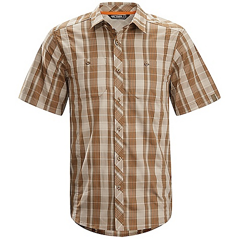 Hunting Free Shipping. Arcteryx Men's Borderline SS Shirt DECENT FEATURES of the Arcteryx Men's Borderline Short Sleeve Shirt New fabric Cotton / polyester blend fabric with stretch Articulated patterning allows freedom of movement Two chest pockets with buttons shaped hemline Embroidered Bird logo We are not able to ship Arcteryx products outside the US because of that other thing. We are not able to ship Arcteryx products outside the US because of that other thing. We are not able to ship Arcteryx products outside the US because of that other thing. We are not able to ship Arcteryx products outside the US because of that other thing. The SPECS Weight: M: 5.6 oz / 158 g Fit: Relaxed Fabric: Wye - 78% cotton, 22% polyester This product can only be shipped within the United States. Please don't hate us. - $78.95